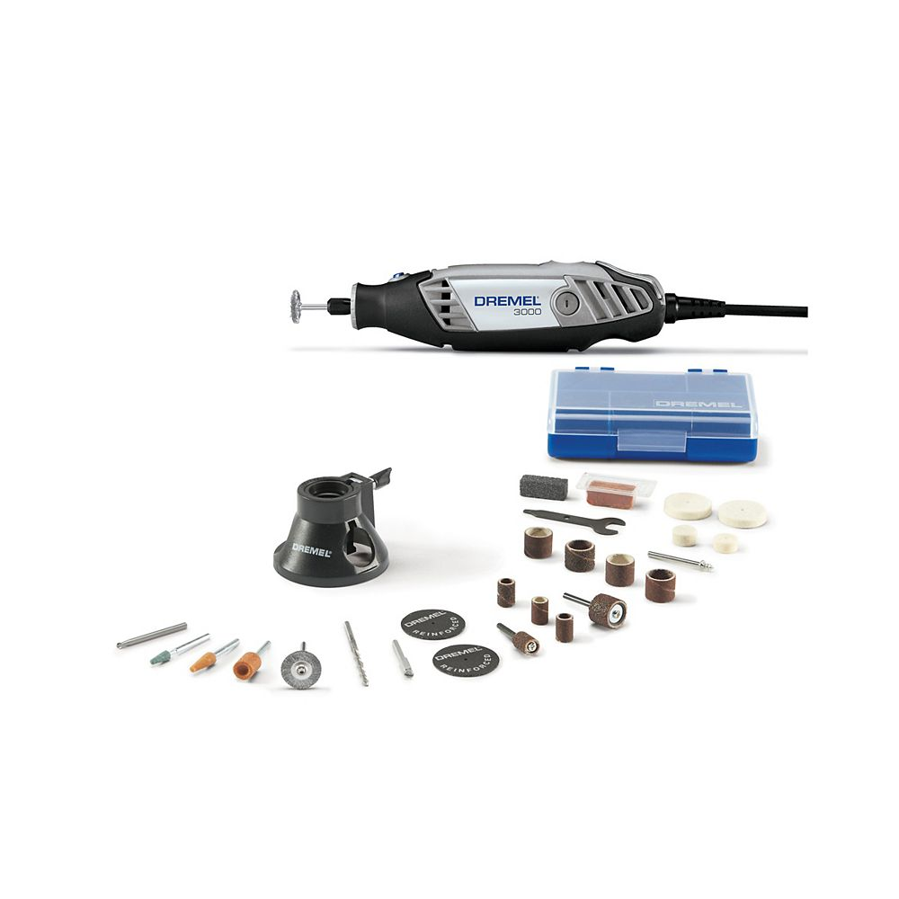 Dremel 3000 Series 18V Corded Rotary Tool Kit with Variable Speed, EZ Twist and Carrying Case