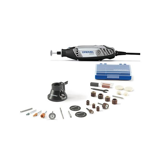 3000 Series 18V Corded Rotary Tool Kit with Variable Speed, EZ Twist and Carrying Case