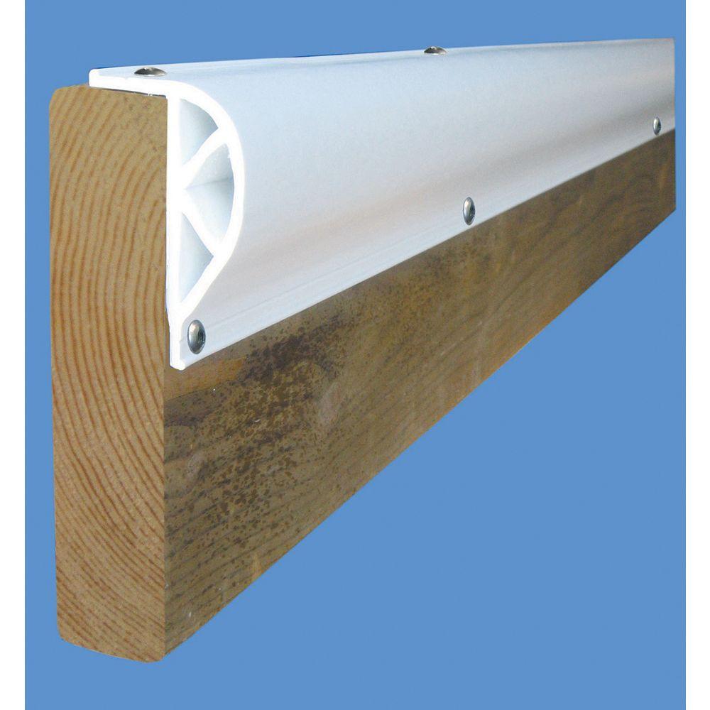 Dock Edge Butoir robuste en «P» incliné «PRODOCK», 24 pi/boîte, blanc