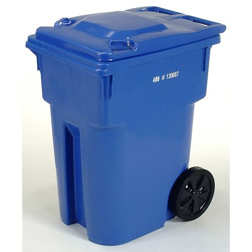 IPL Mastercart 95 GAL Blue Wheeled Cart with 12-inch Wheels