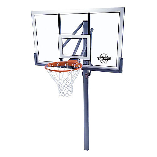 54-inch Acrylic In-Ground Basketball Hoop