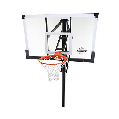 Temp Glass In-Ground Basketball - 54 Inch