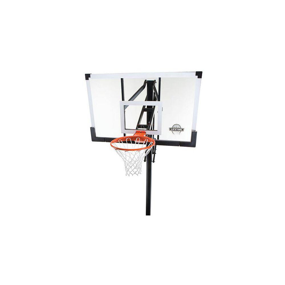Lifetime Basket-ball au sol en verre trempé de 1,38m (54po)