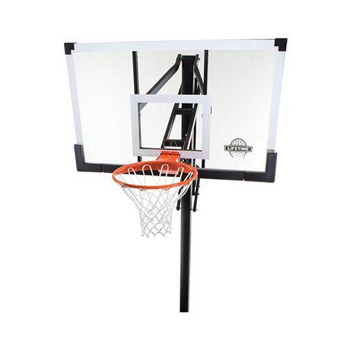 Basket-ball au sol en verre trempé de 1,38m (54po)