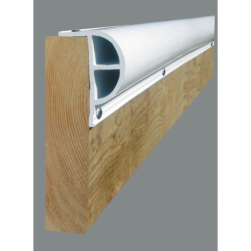 Dock Edge Butoir robuste en «P» «PRODOCK», 24 pi/boîte, blanc