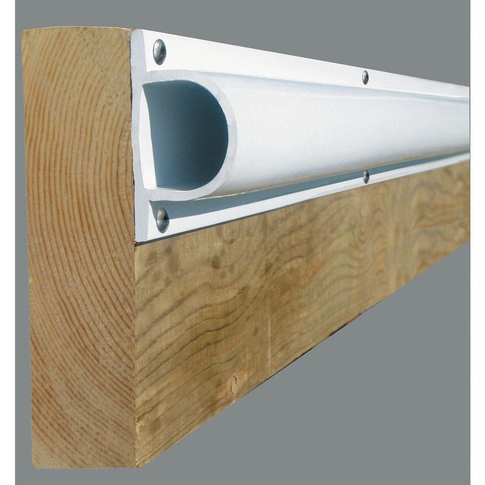 Dock Edge Butoir robuste en «D» «PRODOCK», 24 pi/boîte, blanc
