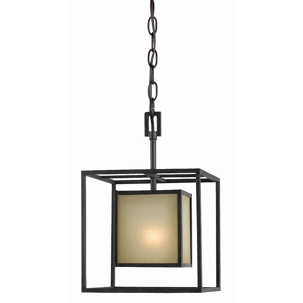 World Imports Suspension à une lampe au fini bronze vieilli de la Collection Hilden, 120 po