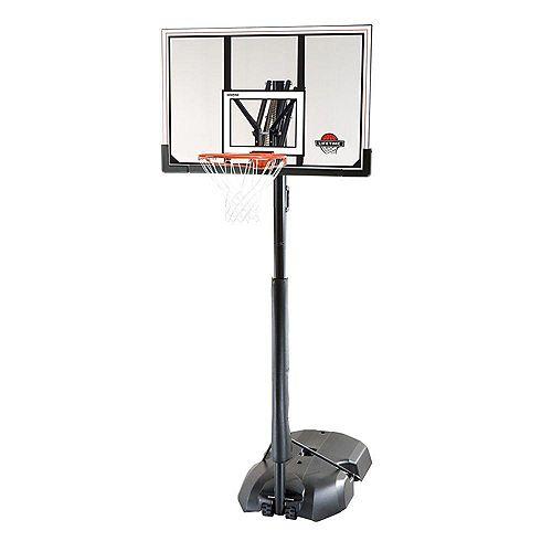 Système de basketball portable acrylique à structure en acier 1,27 m