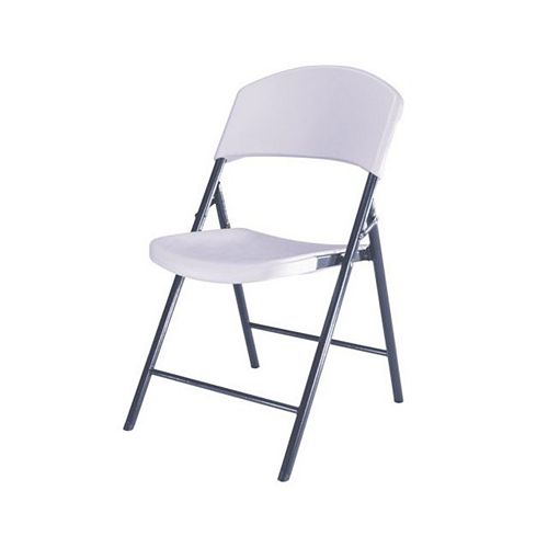 White Granite Light Commercial Indoor/Outdoor Folding Chair (Set of 4)