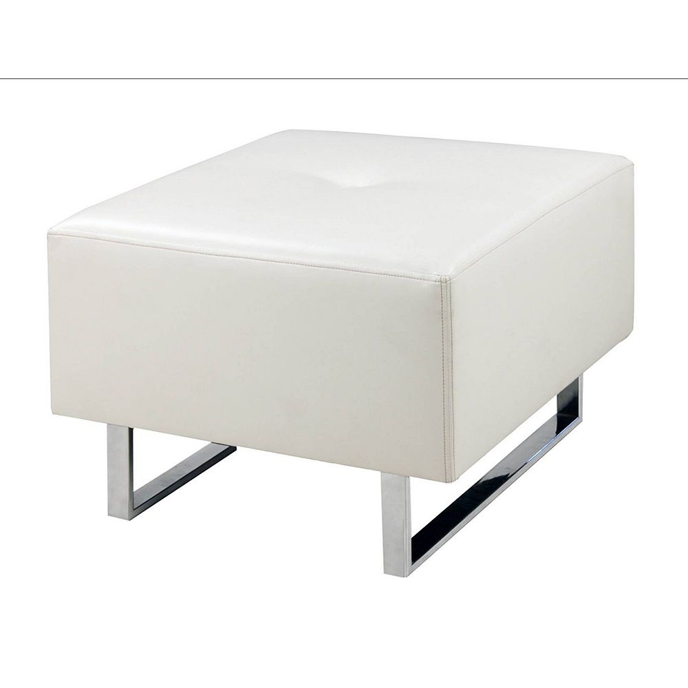 Worldwide Homefurnishings Inc. Fusion ottomane table de salon - blanc