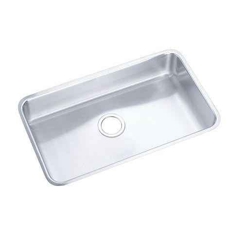 Elkay Single Bowl Undermount Sink, Lustrous Satin 18 Gauge Stainless Steel, 36 Inch x 18 1/2 Inch x 8 Inch Deep