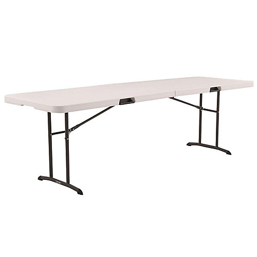 8 ft. Folding Table in Almond