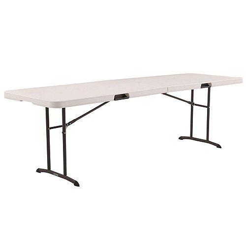 Table pliante en amande de qualité commerciale de 8 pieds