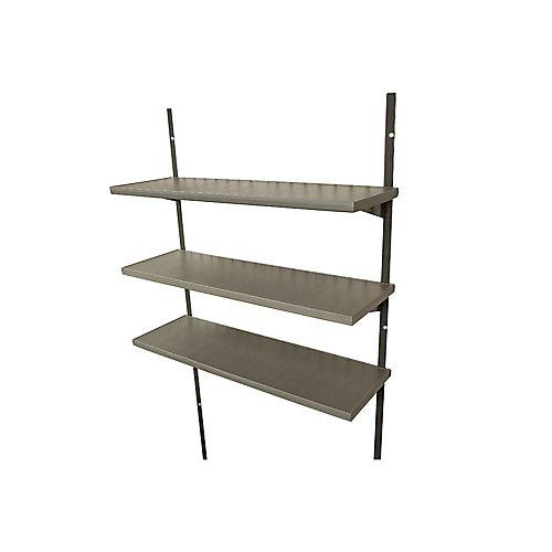 Ensemble de troistablettes 75cm (30po) pour les remises de 2,44m (8pi) de largeur
