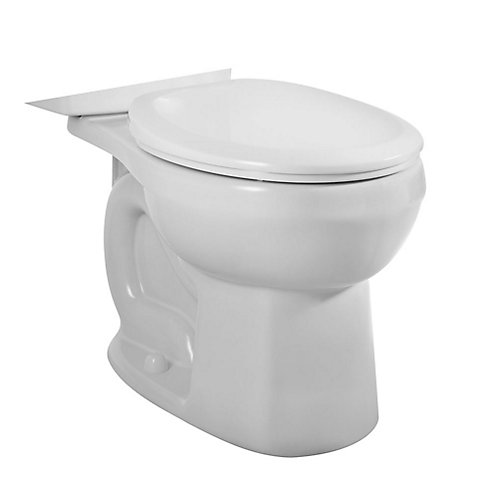 H2Option Siphonic Dual-Flush Round Bowl Toilet Bowl Only in White