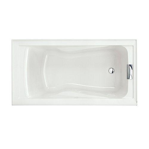American Standard Baignoire Evolution 5 ft. Alcove Rectangulaire Acrylique Réversible à Drain en Blanc