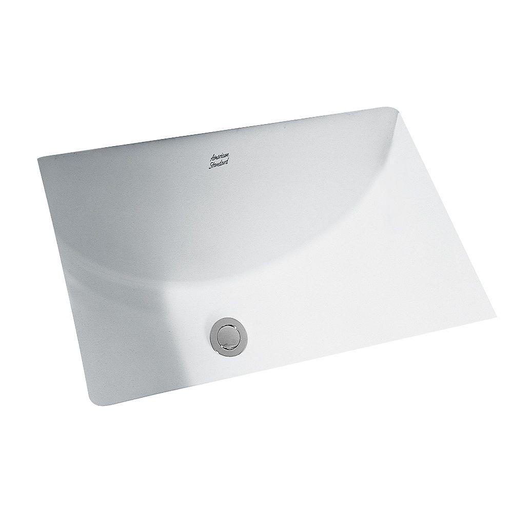 American Standard Studio Rectangular Undermount Bathroom Sink In White The Home Depot Canada
