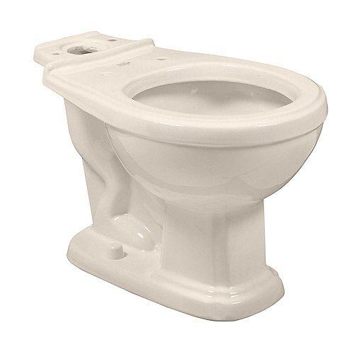 American Standard Antiquité/Répertoire 1.6 GPF Cuvette de toilette à façade ronde uniquement en blanc