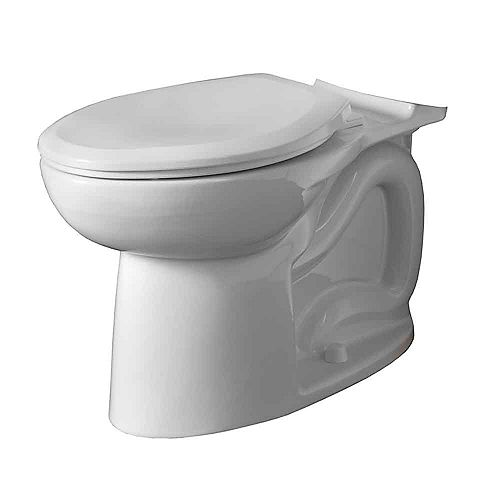 American Standard Cadet 3 1.6 GPF Universal Elongated Toilet Bowl Only in White