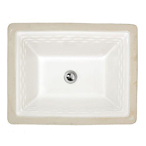 American Standard Salle de bains rectangulaire sous le lavabo en blanc de Portsmouth