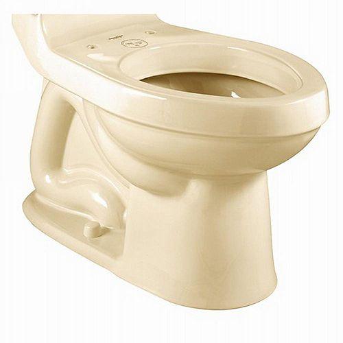 American Standard Champion 1.6 GPF 4 Hauteur droite Cuvette de toilette allongée sans siège uniquement en os