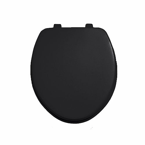 American Standard Laurel Round Closed Front Toilet Seat in Black