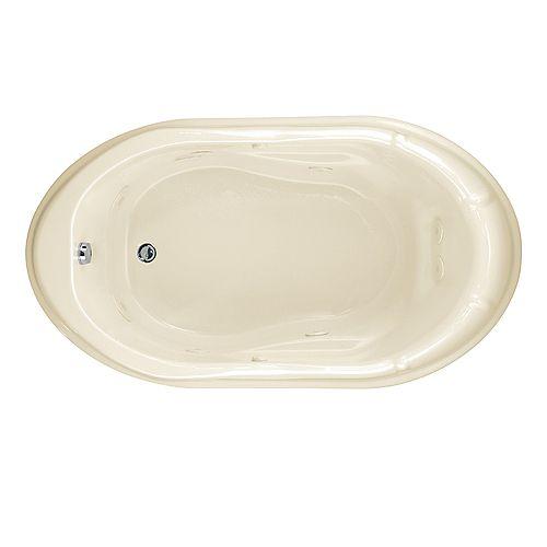 American Standard Réminiscence d'une vie : baignoire à remous de 5 pieds et 6 pouces avec drain réversible en lin