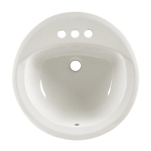 Lavabo de comptoir à rebord intégré Rondalyn™ avec centres de 4 po de couleur os