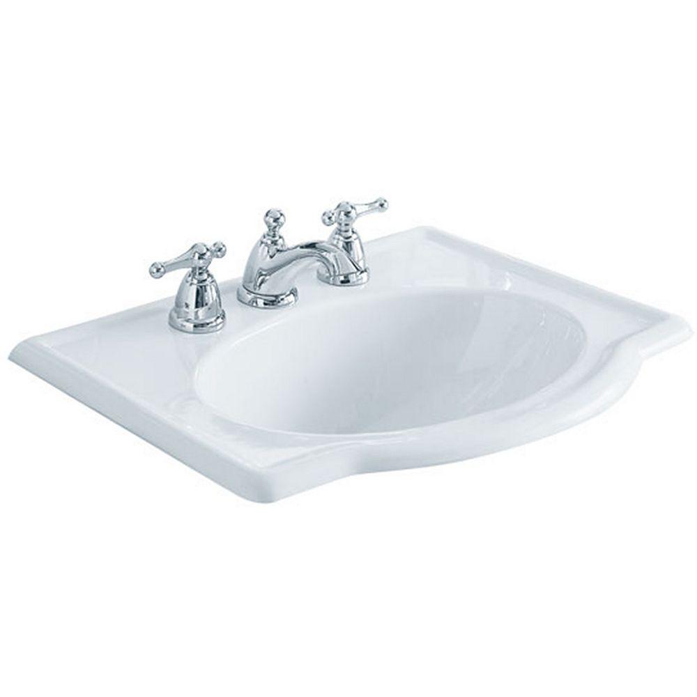 American Standard Retrospect Self-Rimming Bathroom Sink in ...
