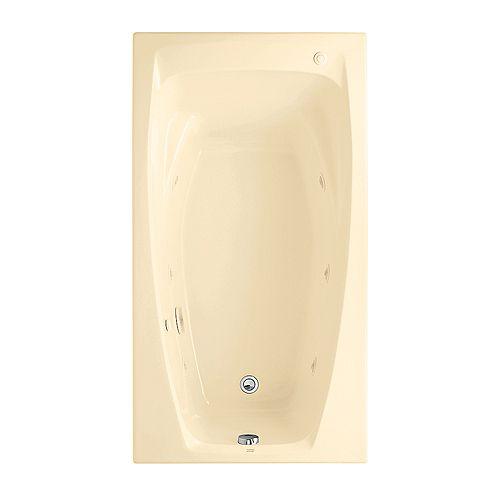 American Standard Bain à remous et baignoire à air de 5 pieds avec drain réversible en os de la colonie