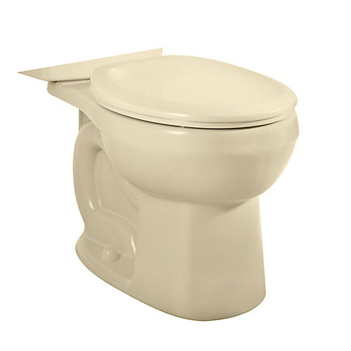 H2Option Siphonic Dual-Flush Round Bowl Toilet Bowl Only in Bone