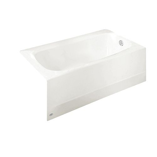 American Standard Colony 5 ft. Alcove Curved Left-Hand Drain Bathtub in Linen
