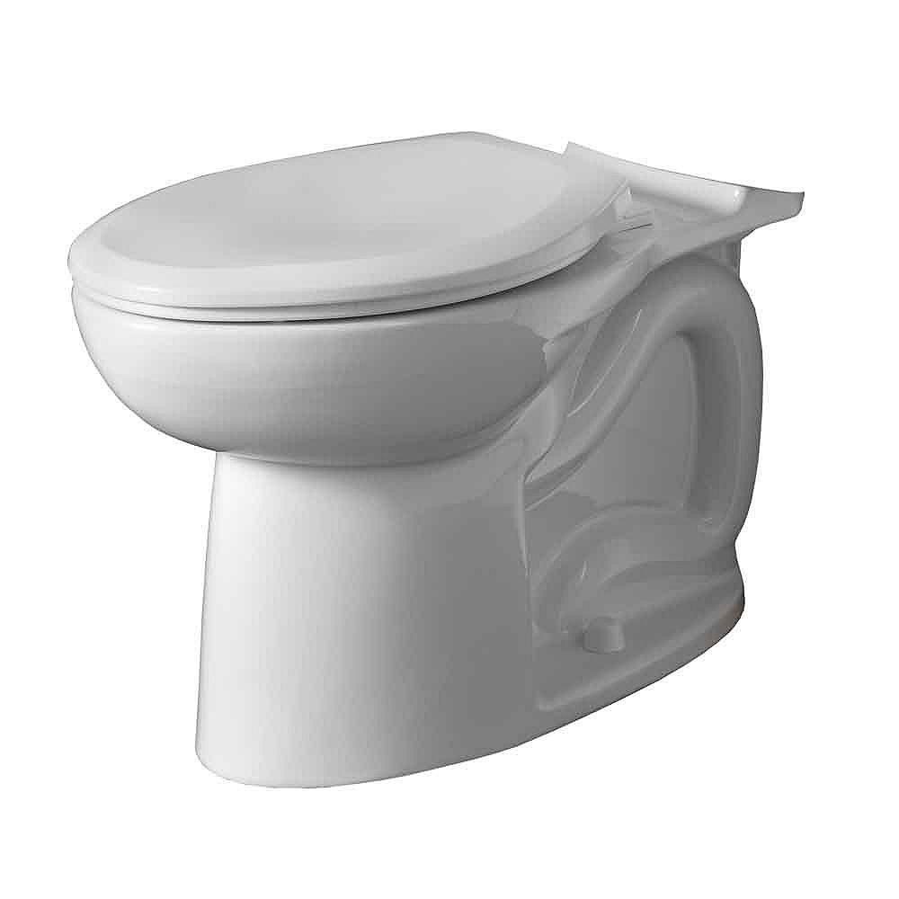 American Standard Cadet 3 1.6 GPF Hauteur droite Universal Allongé cuvette de toilette uniquement en blanc
