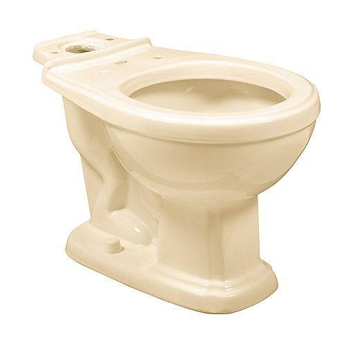 American Standard Antiquité/Répertoire 1.6 GPF Cuvette de toilette à cuvette ronde uniquement en os