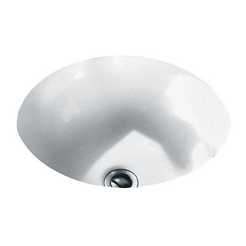 Lavabo de salle de bain sous le comptoir Orbit™ fini blanc