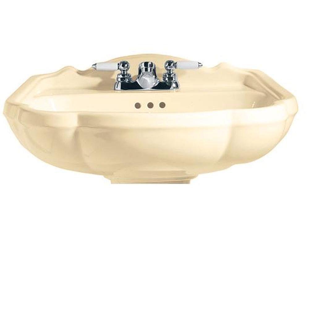 American Standard Répertoire Bassin à piédestal de 24 pouces en os