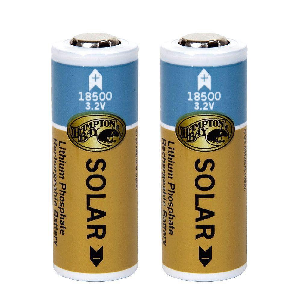 Hampton Bay Piles solaires rechargeables de phosphate de lithium 1 000 mAh (emballage de 2)
