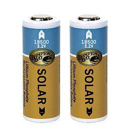 Piles solaires rechargeables 18500 au phosphate de lithium 1000mAh (lot de 2)