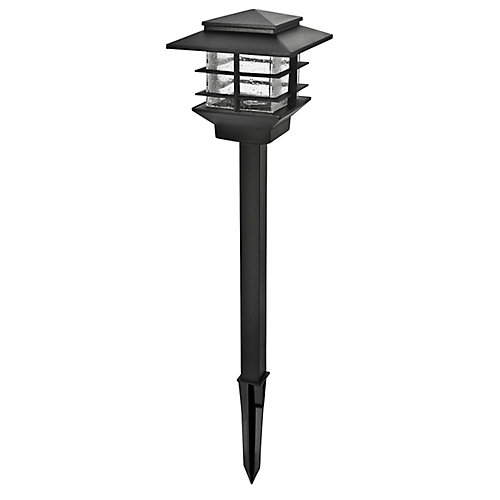 Lampe d'allée à DEL basse tension - Fini noir