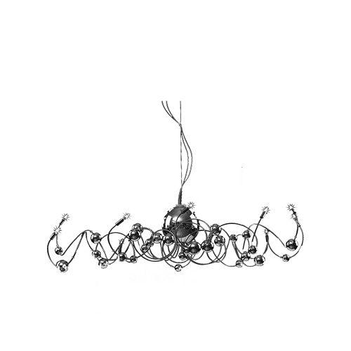 Rialto, Chandelier, 12 Lumières Avec Boules De Verre Chromé