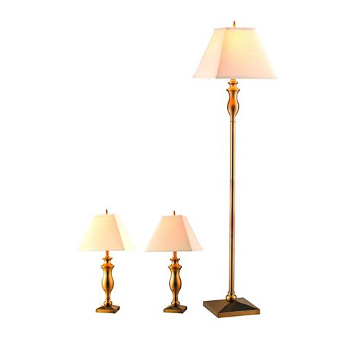 Riviera, Ensemble De 3 Lampes, Brasse Antique