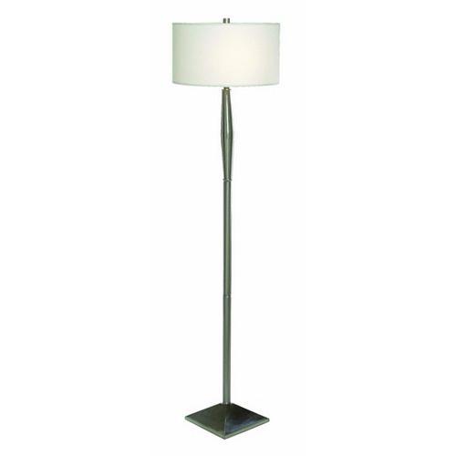 Pure, Lampe De Plancher, Acier Brossé, 2 Lumières