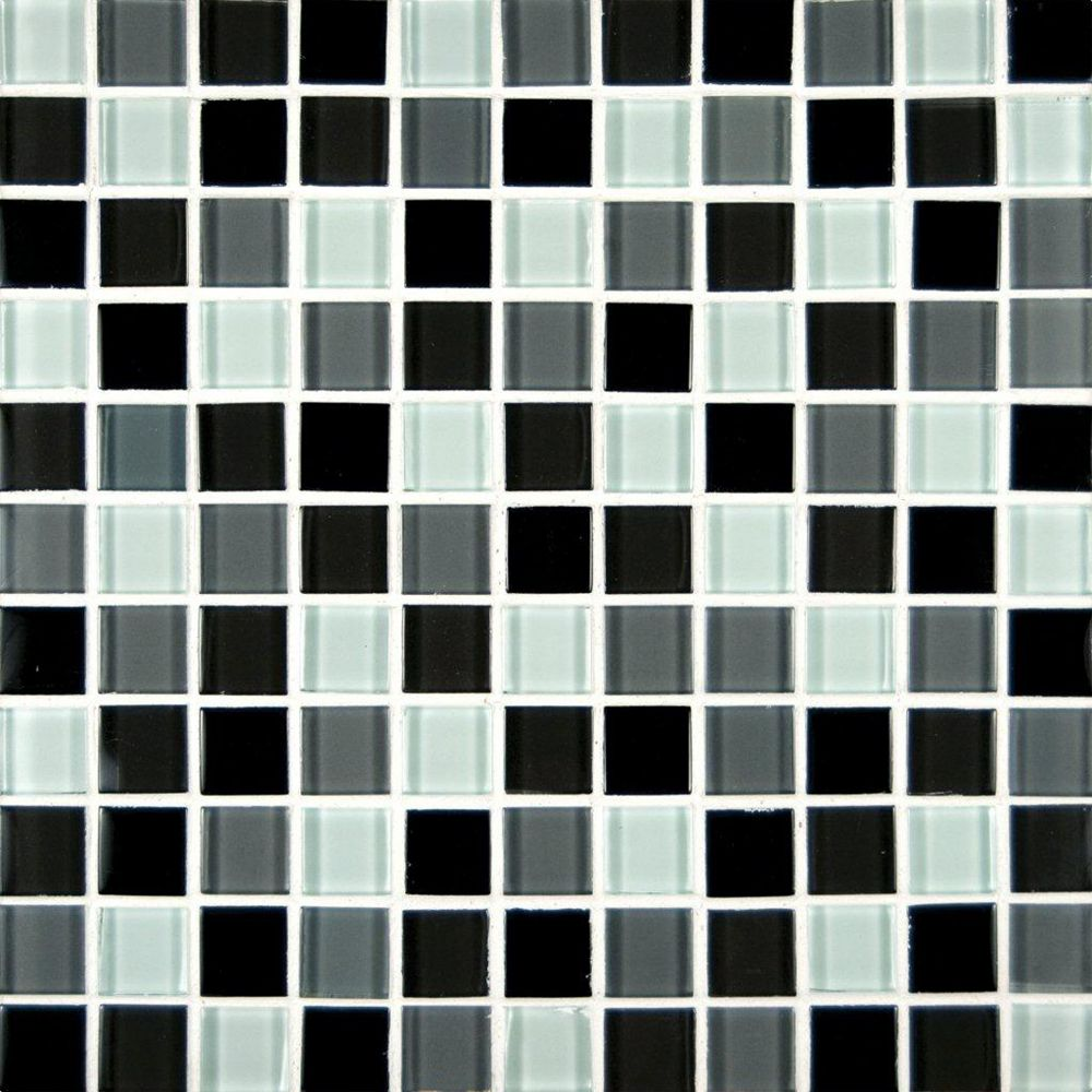 MSI Stone ULC 1-inch x 1-inch Glass Mesh-Mounted Mosaic Blend Wall Tile in Black