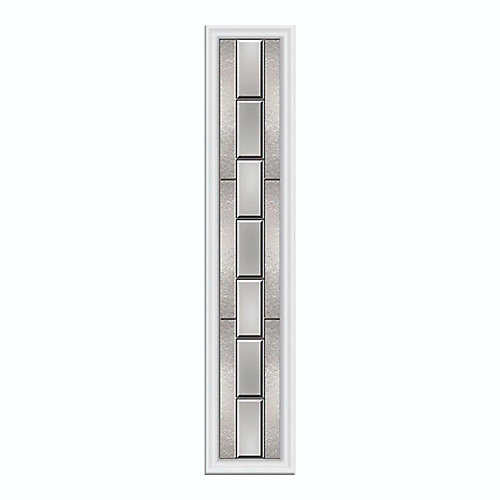 Aspirations 8-inch x 48-inch Sidelight Satin Nickel Caming with HP Frame
