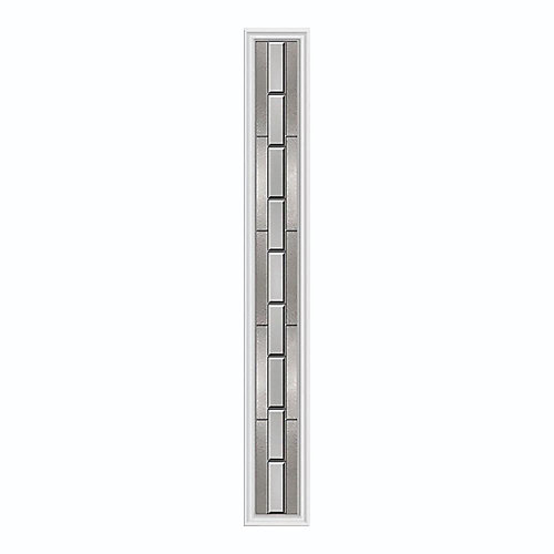 Aspirations 8-inch x 64-inch Sidelight Satin Nickel Caming with HP Frame