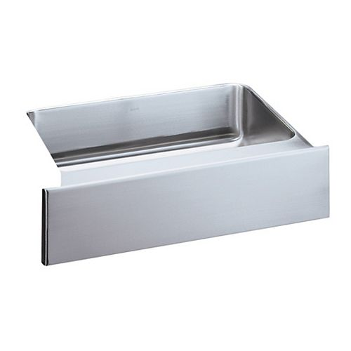 Single Bowl Apron front Undermount Sink, Lustrous Satin Stainless Steel 36 x 20 1/2 x 8 Deep