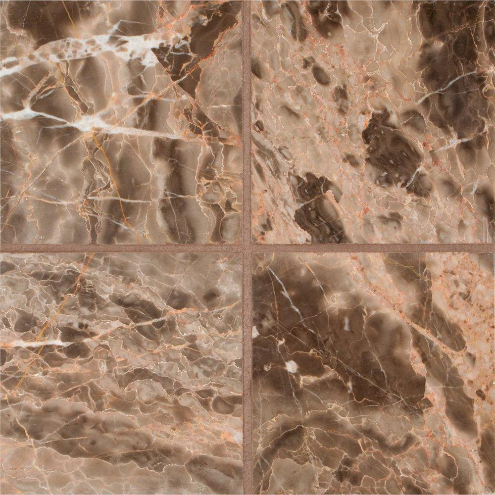 MSI Stone ULC Emperador Cafe 6-Inch x 6-Inch Polished Marble Floor and Wall Tile (1 sq. ft./case)