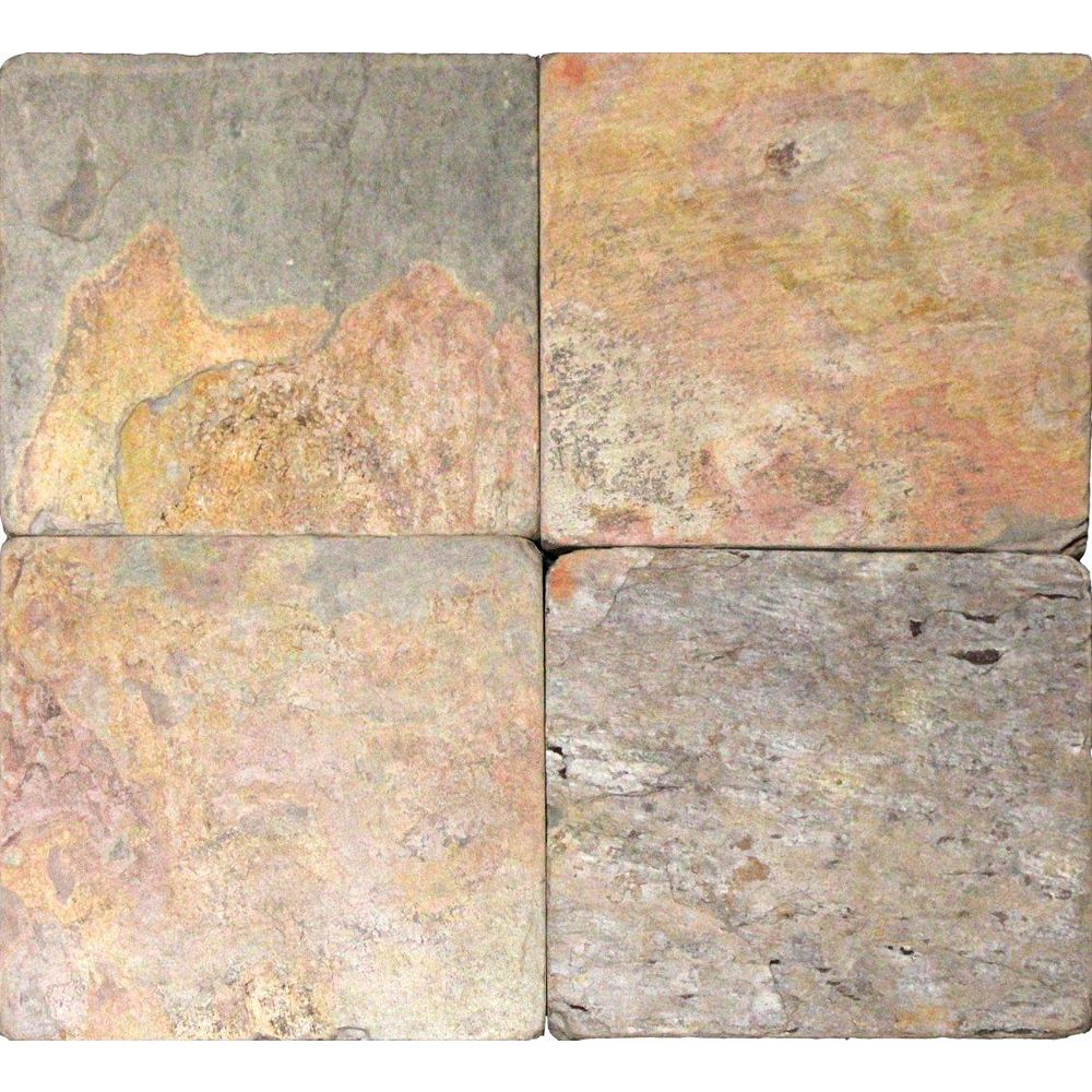 MSI Stone ULC 3-Inch x 6-Inch Tumbled Slate Floor and Wall Tile in Multi Colour (1 sq. ft./case)