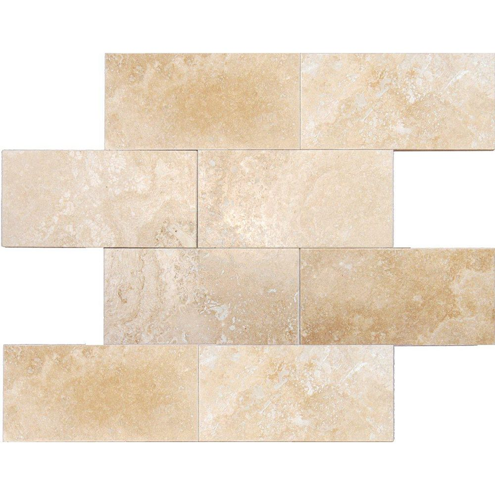 MSI Stone ULC Ivory 3-inch x 6-inch Honed Travertine Floor and Wall Tile (1 sq. ft. / case)