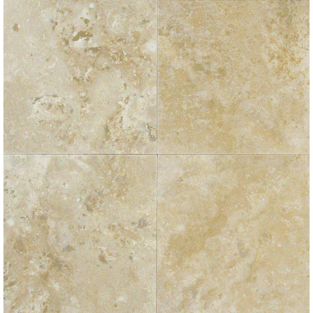 MSI Stone ULC 6-Inch x 6-Inch Honed and Filled Floor and Wall Tile in Ivory Travertine (1 sq. ft./case)